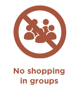 shopping in groups is prohibited